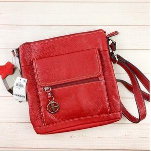 Giani Bernini Glazed Leather Pebble Crossbody Bag